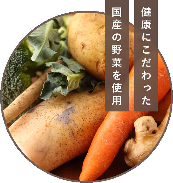 健康にこだわった国産の野菜を使用